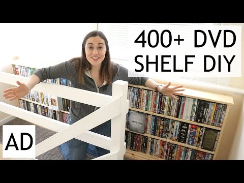 DIY DVD Storage Pine Shelf | AD | The Carpenter's Daughter
