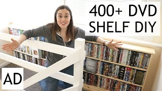 DIY DVD Storage Pine Shelf | A…