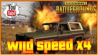 PUBG Wild Speed X4 Funny PlayerUnkown's Battleground Gameplay PC Funny Moments