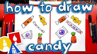 halloween candy drawing lesson