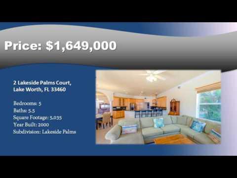 2 Lakeside Palms Court Lake Worth Florida 33460 Lakeside Palms