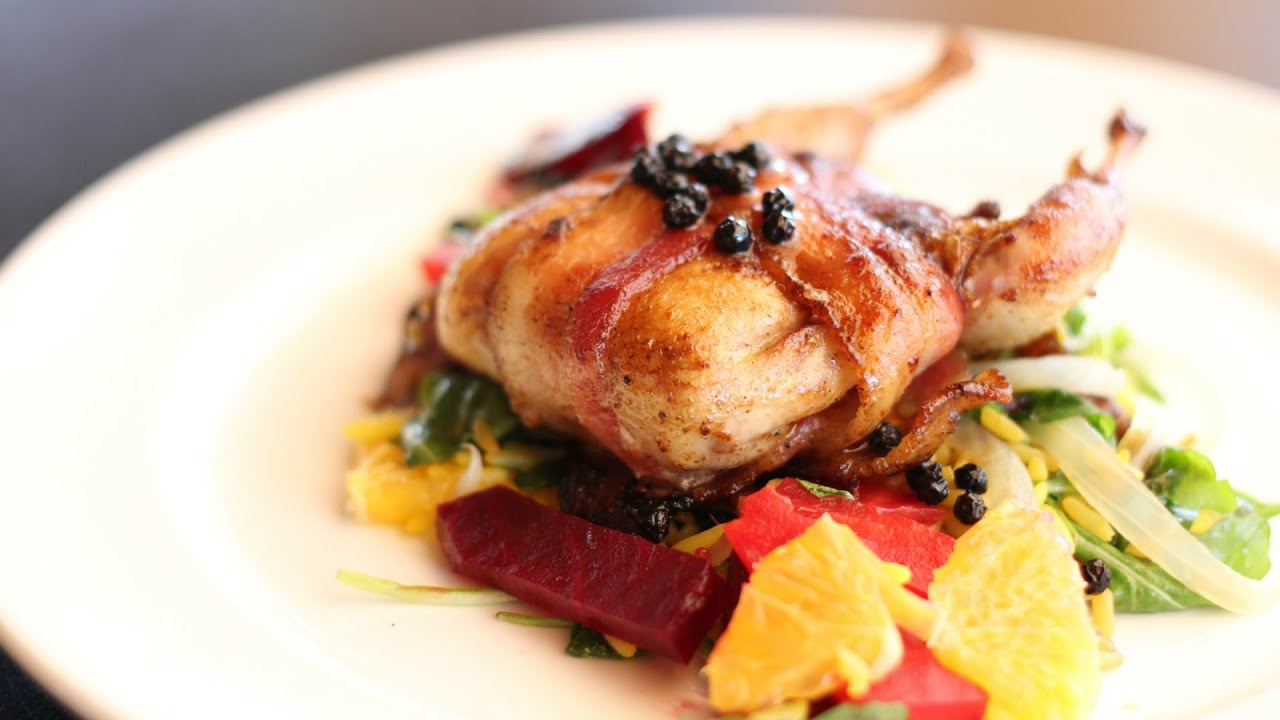Bacon Wrapped Quail Stuffed with Dates Recipe! - YouTube