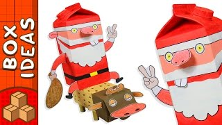 Cardboard Santa and Rudolph   DIY Christmas Crafts For Kids