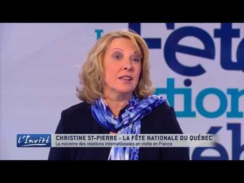 """Christine ST-PIERRE : """"La relation France/Québec est incroyable et unique"""""""