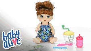 Hasbro Brasil - Vídeo 360° Baby Alive Alive Papinha Divertida Morena - E0587