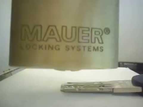 Взлом двери без повреждений (отмычки) MAUER NW4  .6 Pins   Padlock MAUER NW4 .6 Pins + 4 Sliders (MAUER NW4 Serie 185.005)