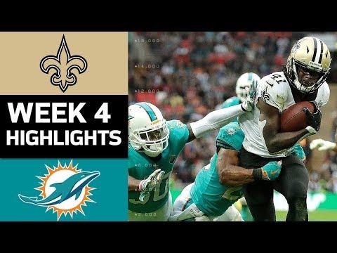 Saints vs. Dolphins | NFL Week 4 Game Highlights