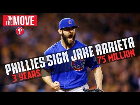 JAKE ARRIETA SIGNS WITH THE PHILADELPHIA PHILLIES (3 YEARS - 75 MILLION)