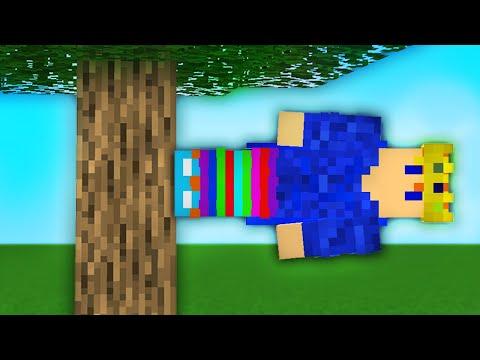 Minecraft sur le COTÉ (C'est trop drôle)