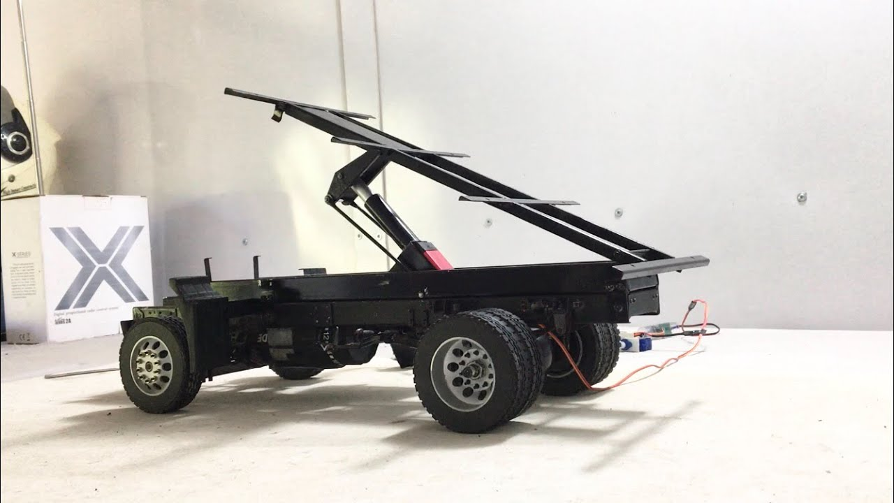 HOW TO MAKE AMAZING HYDRAULIC SERVO 20KG RC TRUCK 1/14 SCALE FOR RC HEAVY CONSTRUCTION  HANDMADE DIY