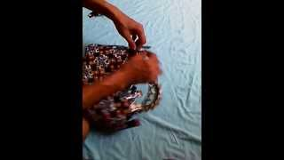 Cara buat tas cantik dari bungkus kopi 3