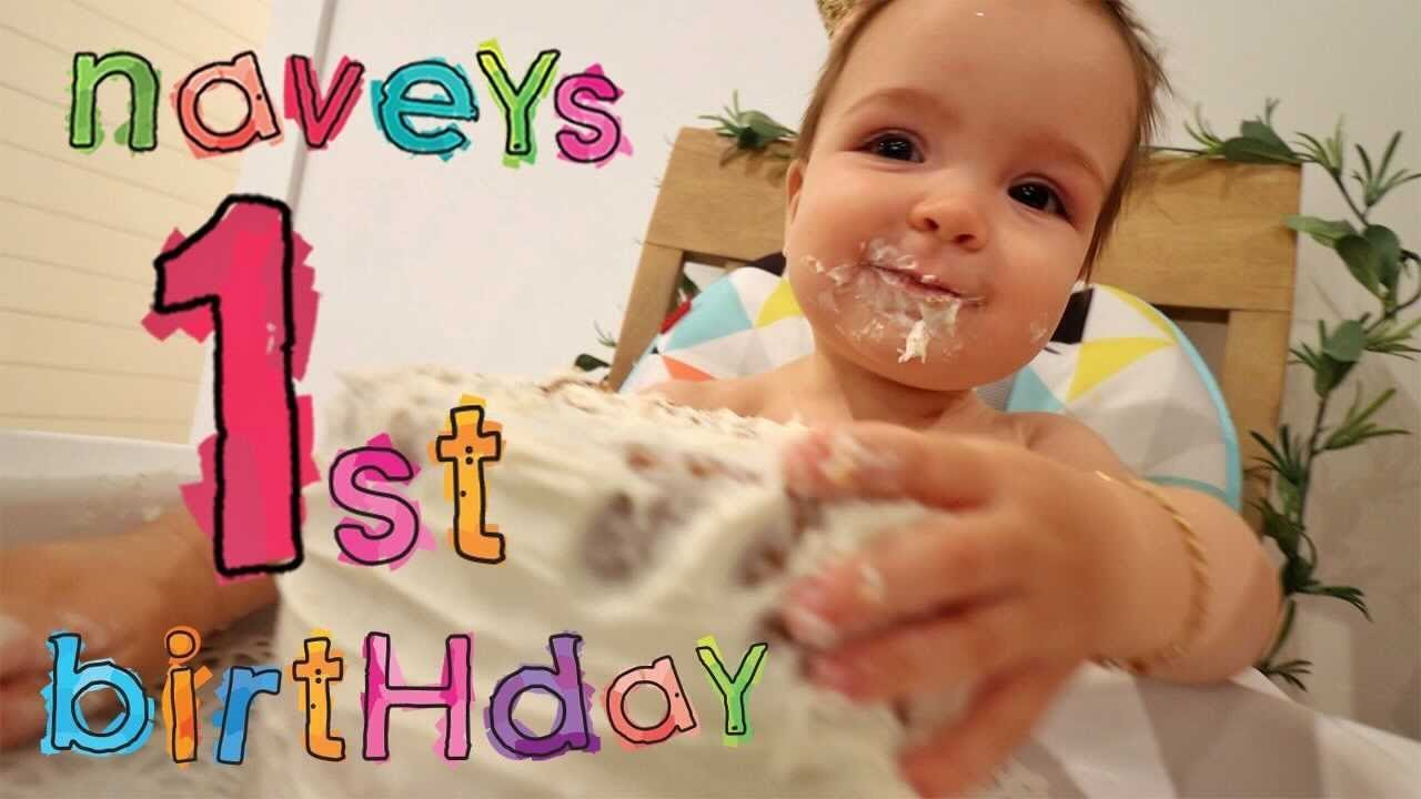 NAVEYs 1st BiRTHDAY!!  Cake & Presents with little miss Navey on her bday! balloon wake up tradition