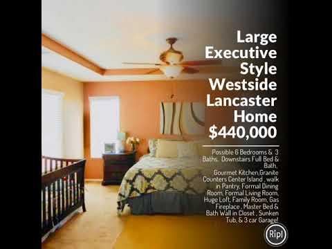 Large Executive Style Westside Lancaster Home $440,000