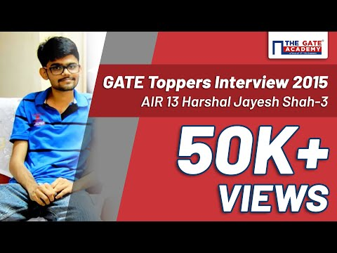 GATE Toppers Interview 2015 | GATE 2015: ECE Topper | AIR 13 Harshal Jayesh Shah-3