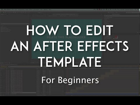 How to Edit an After Effects Template