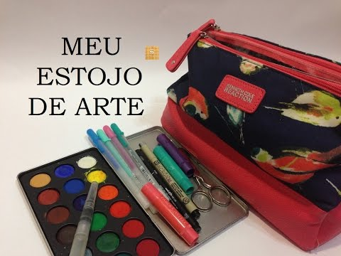 Estojo de Material de Arte, o que tem dentro? (Art Supply bag, what's inside?) -VIDEO