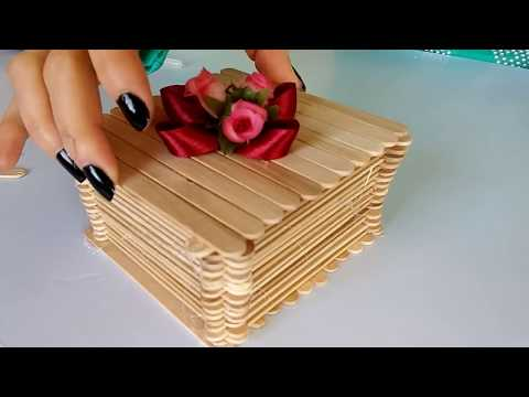 How to make jewellery Box with popsicle sticks (DIY Projects!)