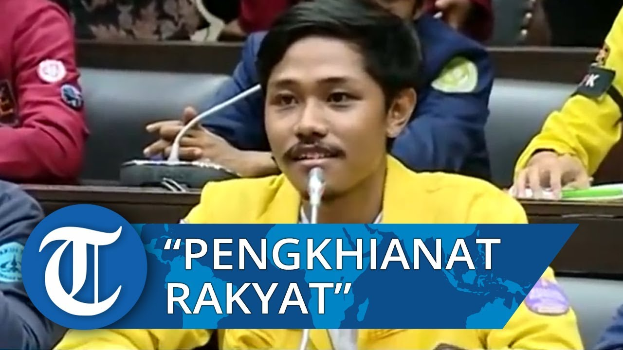 Download Viral Video Mahasiswa Teriak Tidak Percaya DPR di Hadapan Anggota Dewan di Gedung DPR RI