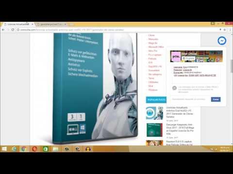 Licencias  ESET NOD32 Actualizadas 2017 Generador
