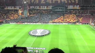 Galatasaray Vs Lazio Uefa Europe League  choreography and Ceremony 18.02.2016