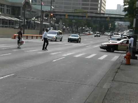 Pratt Street Rush Hour Traffic