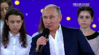 Putin tries to woo Russian teens with live TV show