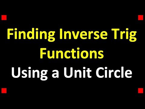 how to find inverse trig functions