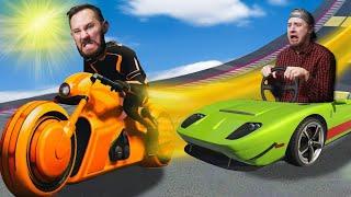 Tron Bikes VS Super Cars!   GTA5 [Ep 16]