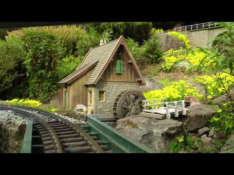 Cab ride, Garden Train, Riding Eastward, Gartenbahn, Fuehrerstandsmitfahrt