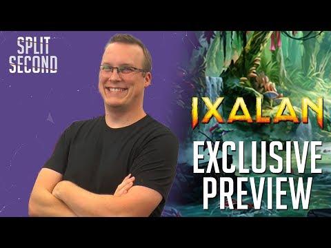 Exclusive Ixalan Preview Card! - Search for Azcanta, Azcanta, the Sunken Ruin - Split Second