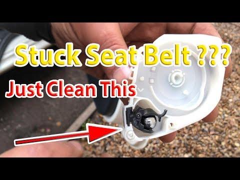 How to fix repair a stuck seatbelt – Ford KA Stuck Seatbelt