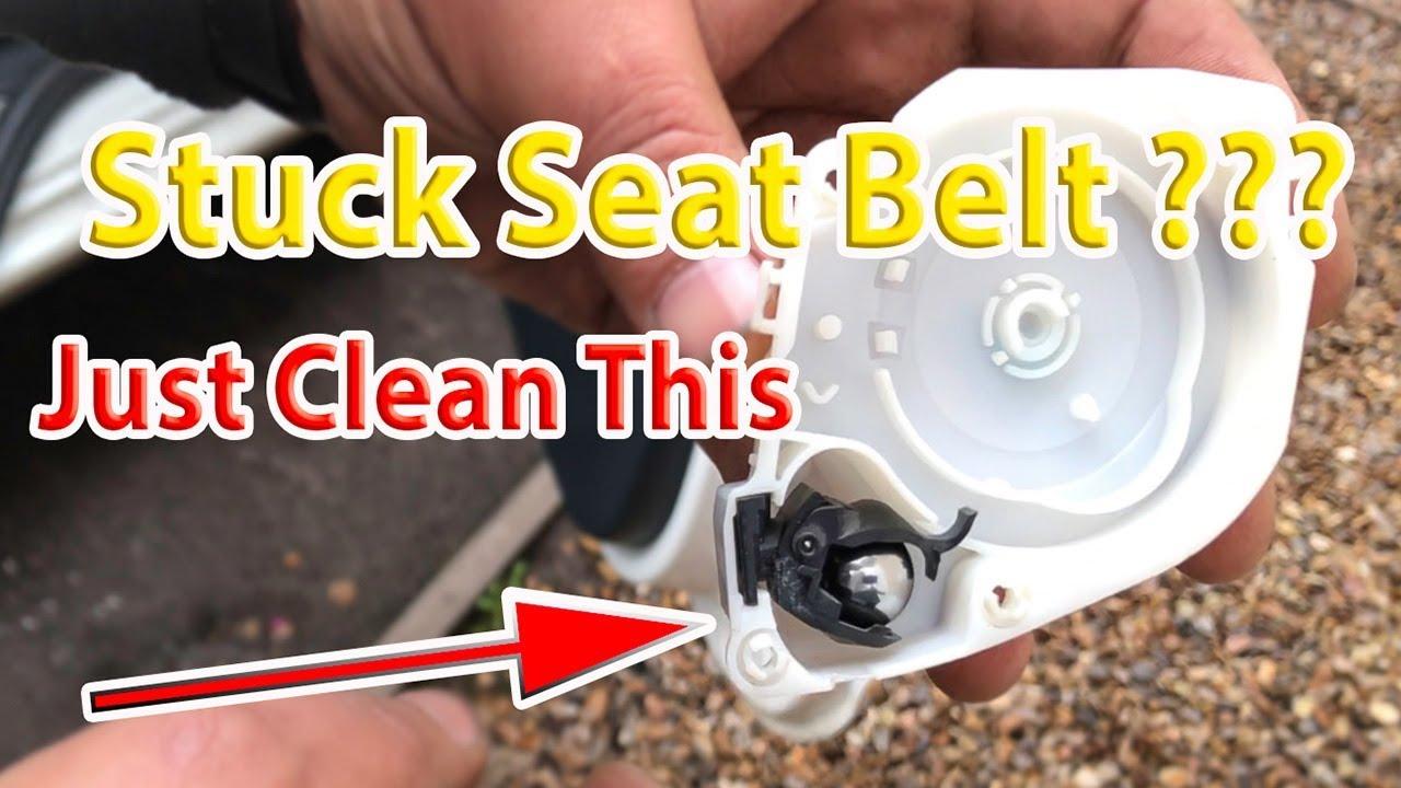 How to fix repair a stuck seatbelt - Ford KA Stuck Seatbelt