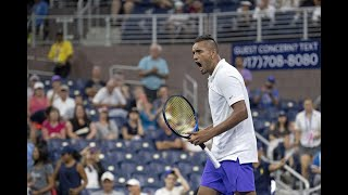 Antoine Hoang vs Nick Kyrgios | US Open 2019 R2 Highlights