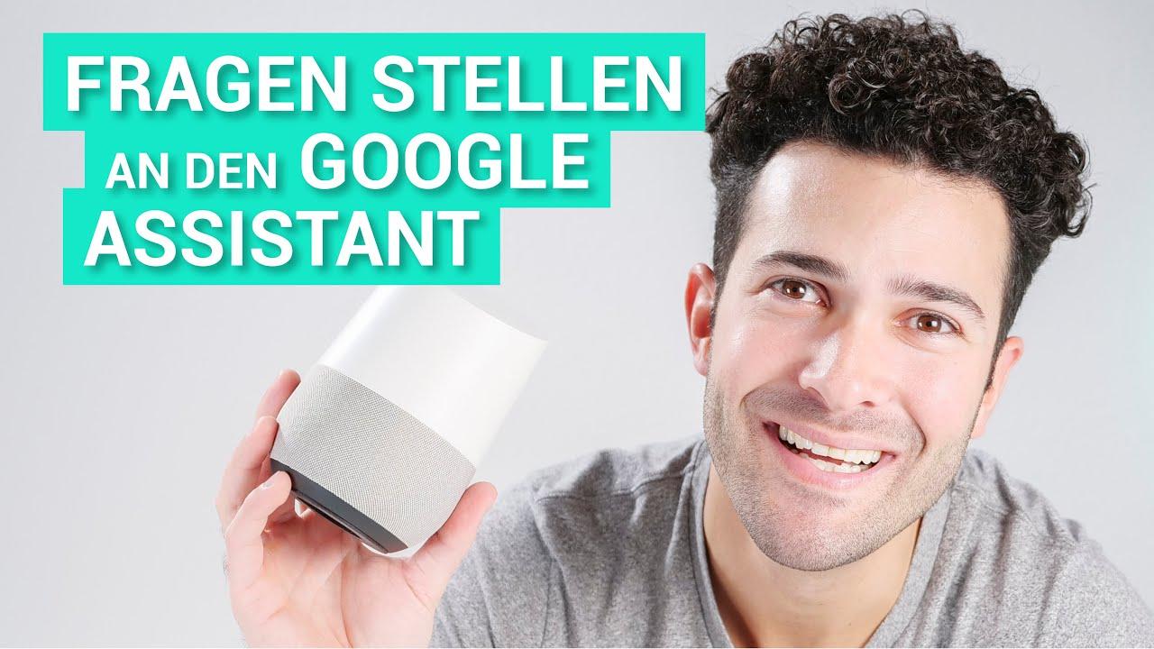google home bzw dem google assistant fragen stellen. Black Bedroom Furniture Sets. Home Design Ideas