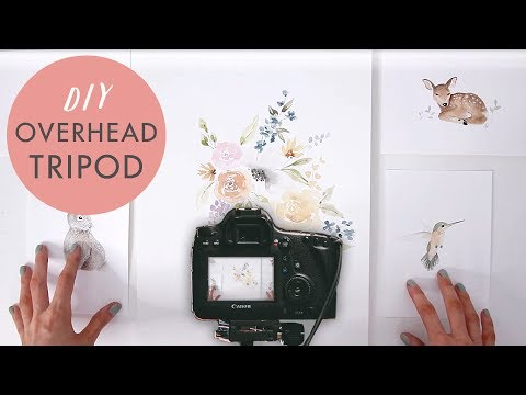How To Film Overhead Desktop Videos: DIY Tripod Tutorial for Birds Eye View