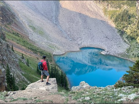 Blue Lakes Trail To Blue Lake Pass Near Ouray, Colorado