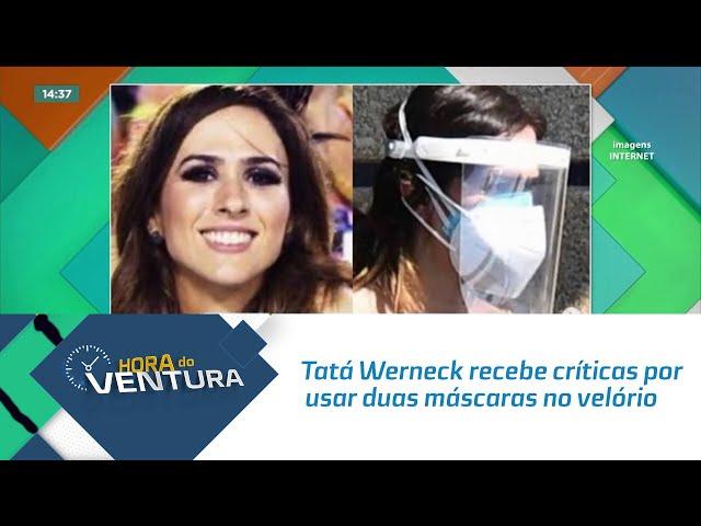 Tatá Werneck recebe críticas por usar duas máscaras no velório de Paulo Gustavo