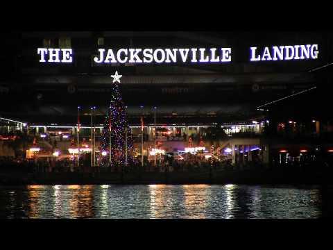 Friendship Fountain Jacksonville, Florida Night Life ( Canon HF G10 )