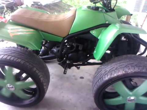 4 wheeler on rims - YouTube