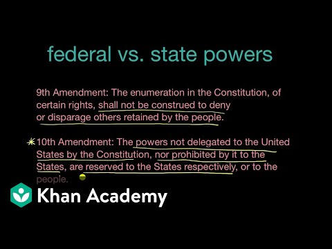Federal And State Powers And The Tenth And Fourteenth Amendments | Khan Academy