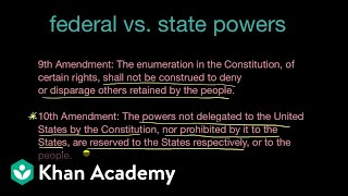 Federal and State powers and the 10th and 14th Amendments