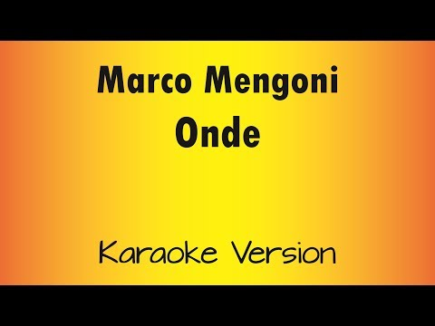 Marco Mengoni - Onde (Karaoke Version) Acoustic Version