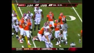 2008 Chick-Fil-A Kickoff Game - #24 Alabama vs. #9 Clemson Highlights