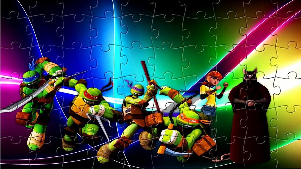 Черепашки-ниндзя - пазл игра для детей - YouTube