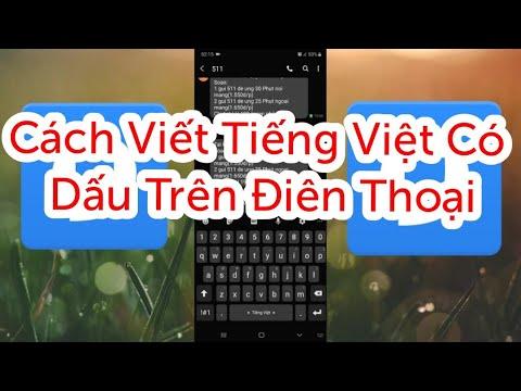 Cách Viết Tiếng Việt Có Dấu Trên android  samsung