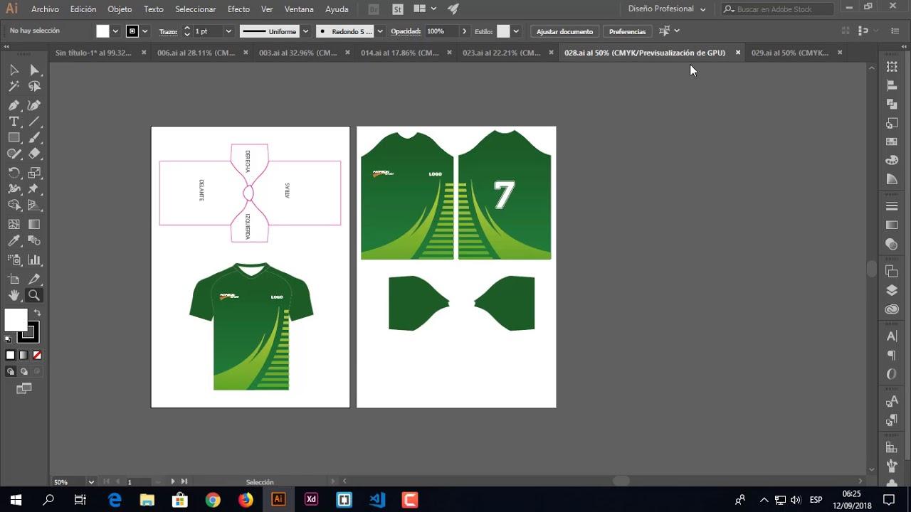 7578fea7c74901 Patrones de Camisetas deportivas listo para sublimación 👕📢 - YouTube