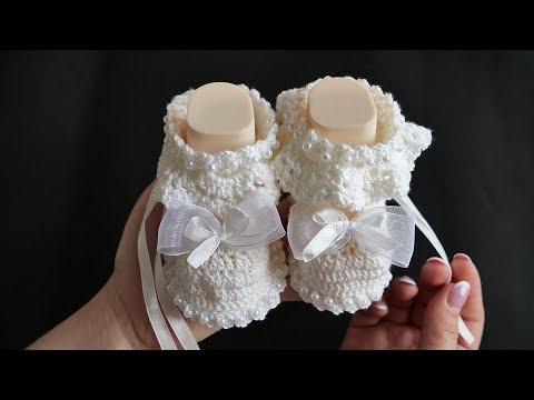 Пинетки для новорожденных схема крючком