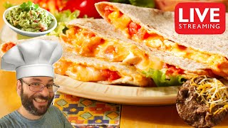 Grilled Chicken Quesadillas, Refried Beans, & Guacamole, December 10th Cooking Live Stream
