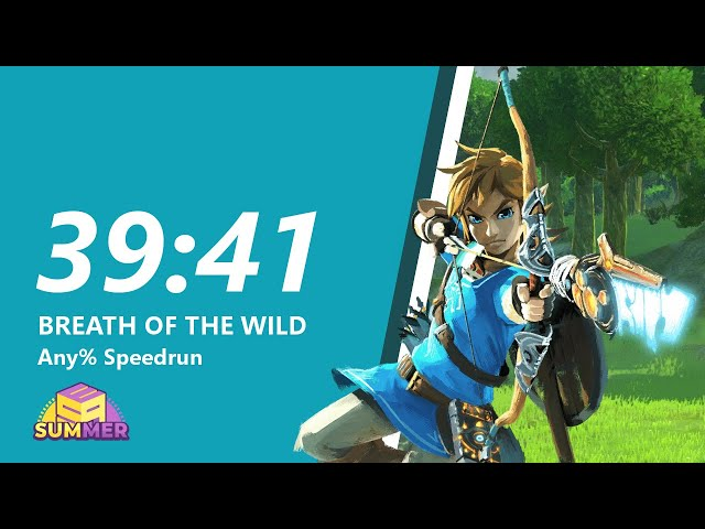 Breath of the Wild Any% Speedrun in 39:41