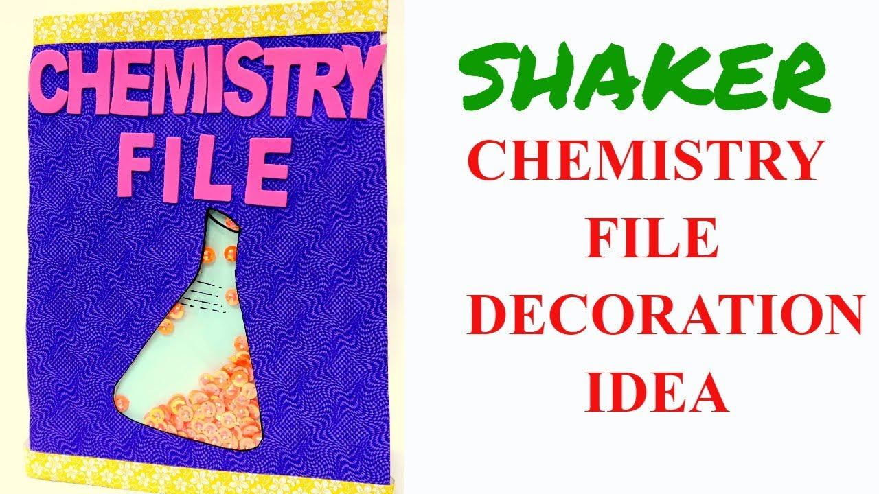 Chemistry File Diy Notebook Cover Idea Decorate Notebook